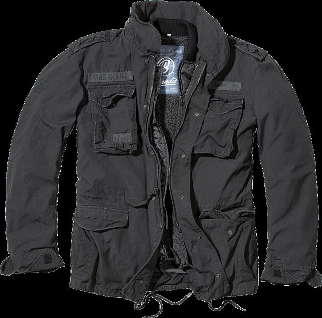 Brandit M65 Giant zimní bunda, černá - S