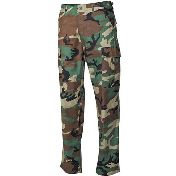 MFH BDU pánské kalhoty Rip-Stop woodland - L