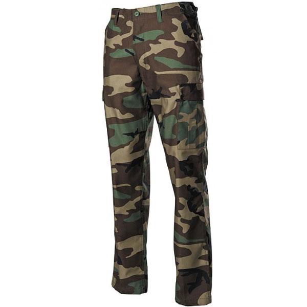 MFH US BDU kalhoty pánské woodland - L