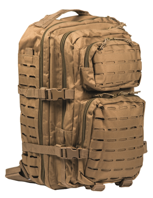 Mil-Tec batoh US Assault Large Laser Cut, coyote, 36L