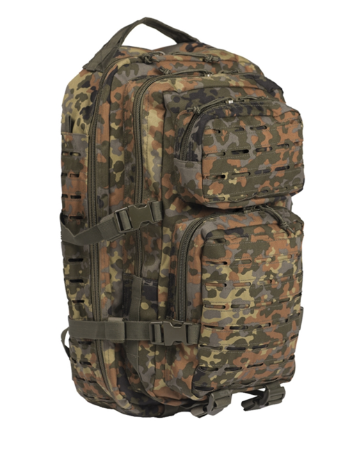 Mil-Tec batoh US Assault Small Laser Cut, flecktarn, 20L