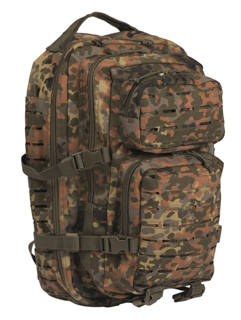 Mil-Tec batoh US Assault Large Laser Cut, flecktarn, 36L
