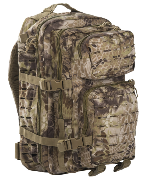 Mil-Tec batoh US Assault Large Laser Cut, Mandra tan, 36L