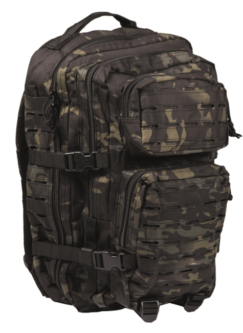 Mil-Tec batoh US Assault Large Laser Cut, multitarn black, 36L