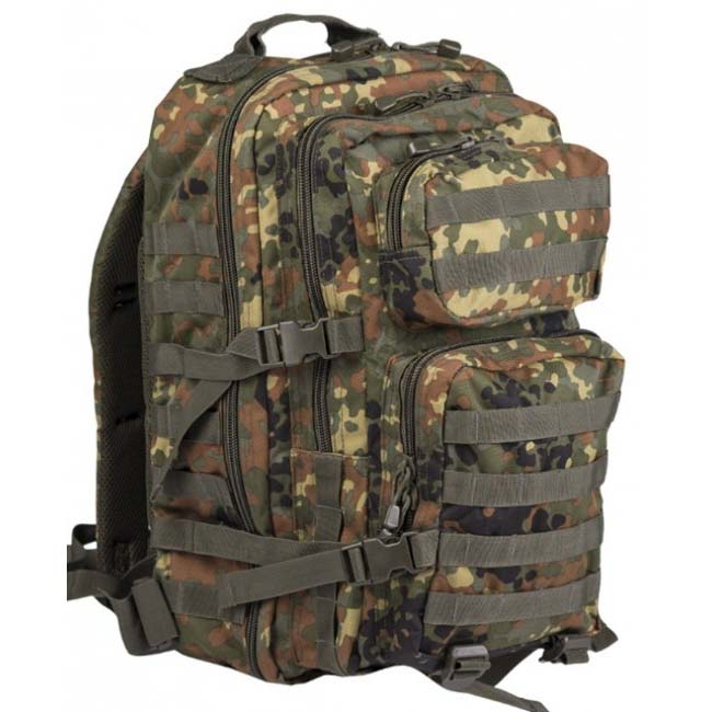 Mil-Tec US assault Large batoh Flecktarn, 36L