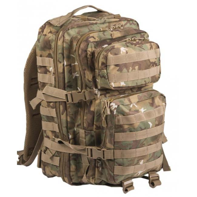 Mil-Tec US assault Large batoh Woodland-Arid, 36L