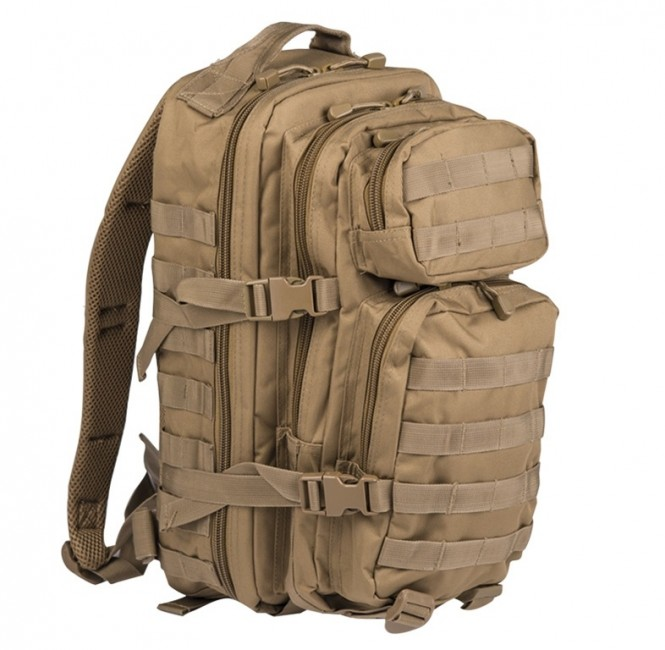 Mil-Tec US assault Small ruksak coyote, 20L