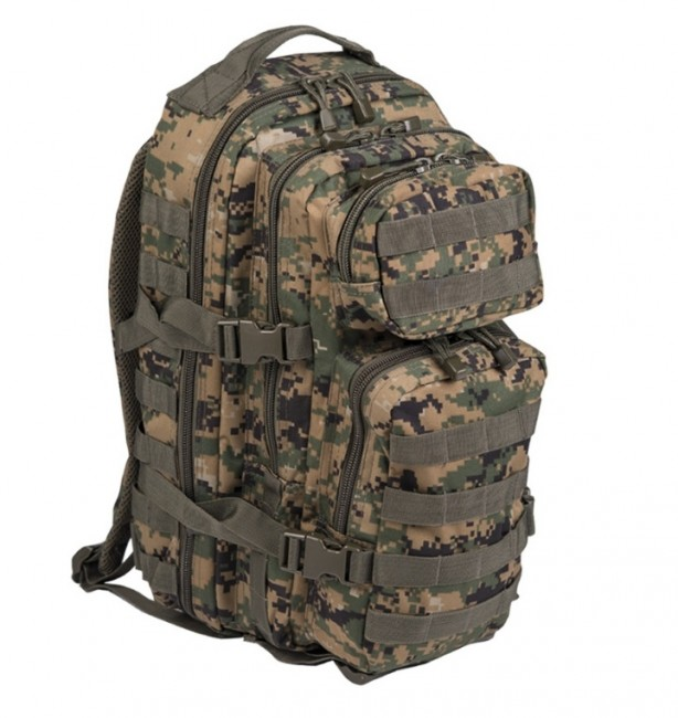 Mil-Tec US assault Small ruksak digital woodland, 20L