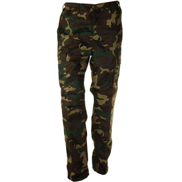 Pánské kalhoty BDU, vzor woodland - L