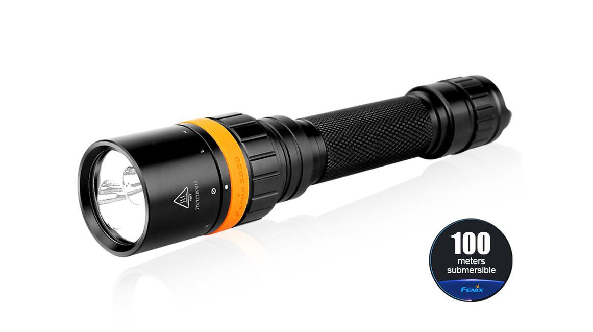 Potápěčská LED svítilna Fenix SD20, 1000 lumenů