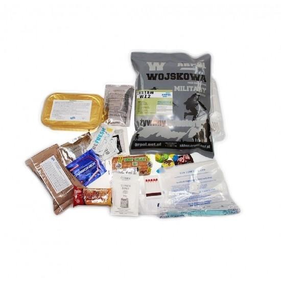 Arpol Vojenská potravinová dávka MRE WZ, set 3, 900g
