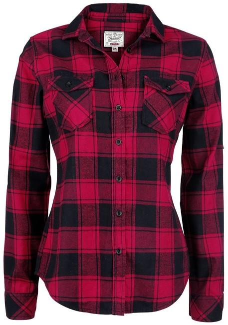 Levně Brandit Amy dámská košile, červeno černá - XL