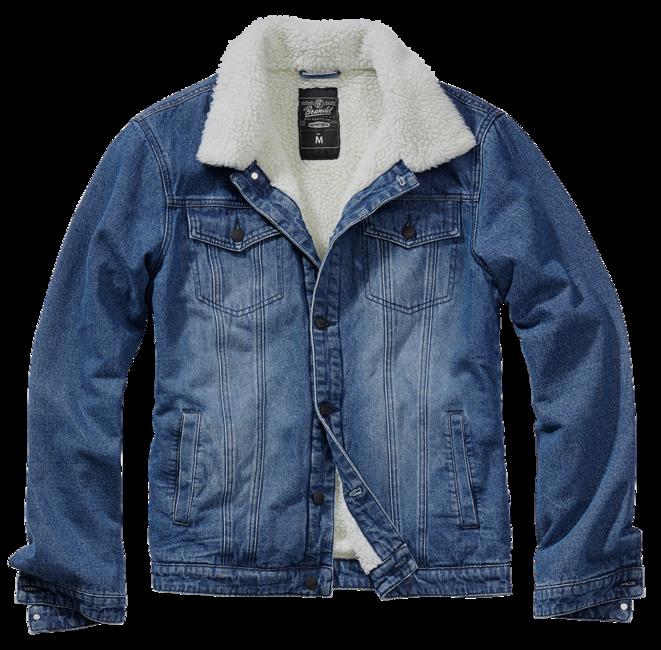 Brandit Sherpa denim bunda s kožešinou, modrá - S
