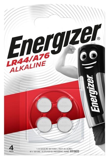 Energizer knoflíková baterie A76/LR44 Alk BP4, 4ks