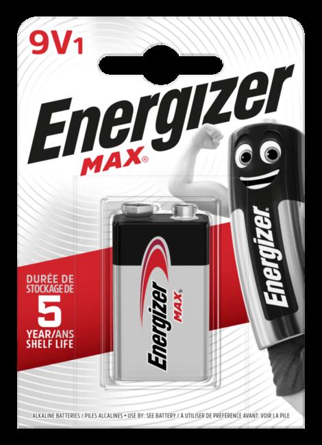 Energizer MAX alkalická baterie 9V 522, 1ks