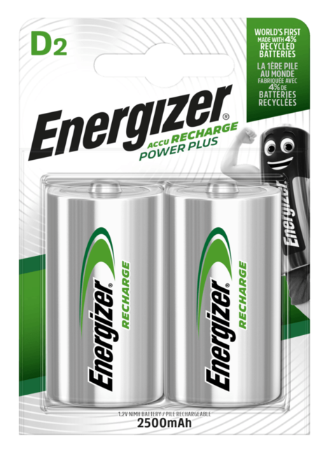 Energizer nabíjecí baterie HR20 2500 mAh FSB2, 2ks