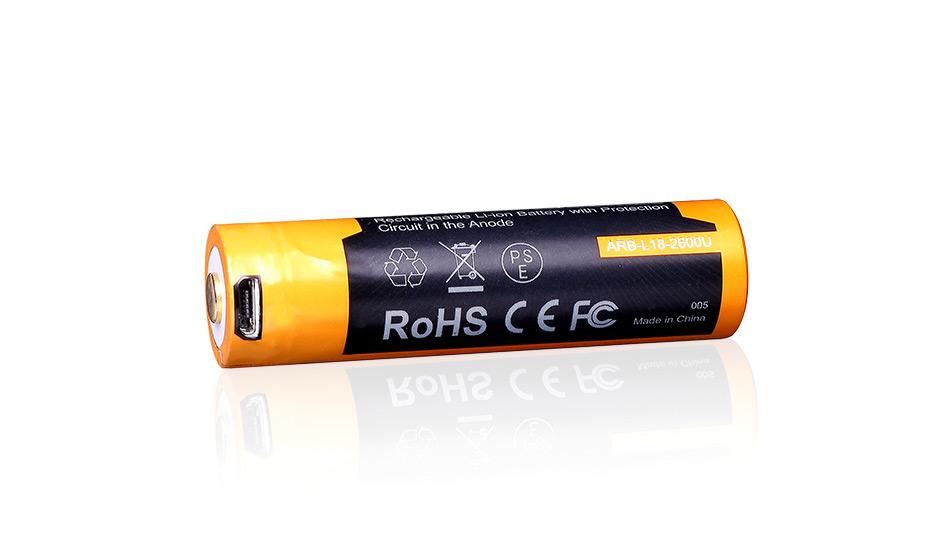 Fenix USB nabíjecí baterie 18650, 2600 mAh Li-Ion
