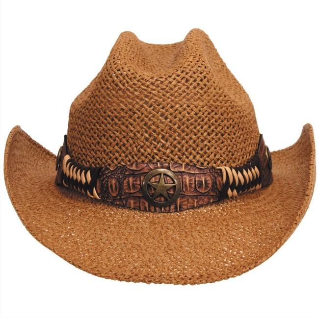 Fox Outdoor klobouk slaměný Georgia, hnědý