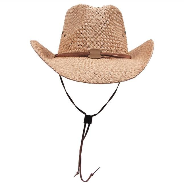 Fox Outdoor klobouk slaměný se šňůrkou, hnědý