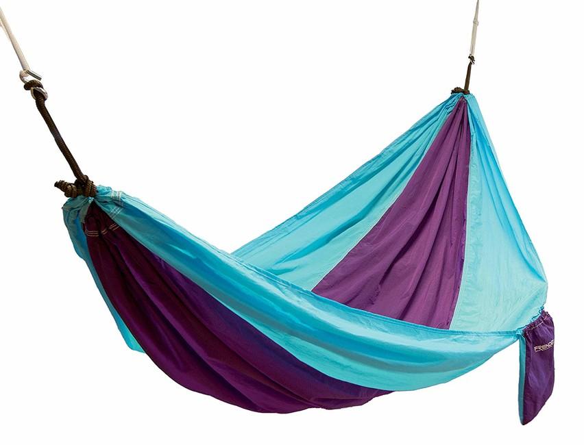 Frendo nylonová hamaka houpací síť, modro purpurová