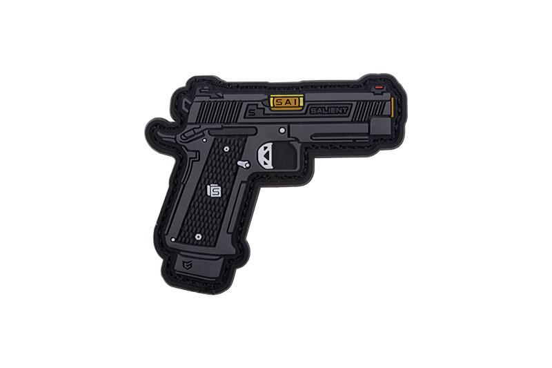 GFC Tactical nášivka 2011 DS 4.3, čierna, 5,5 x 4,5cm