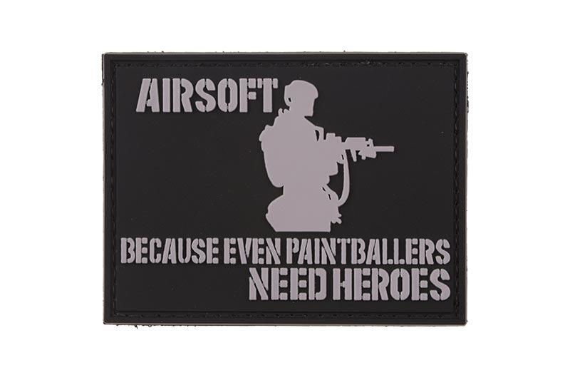 GFC Tactical nášivka Airsofters, čierna, 6 x 7,5cm