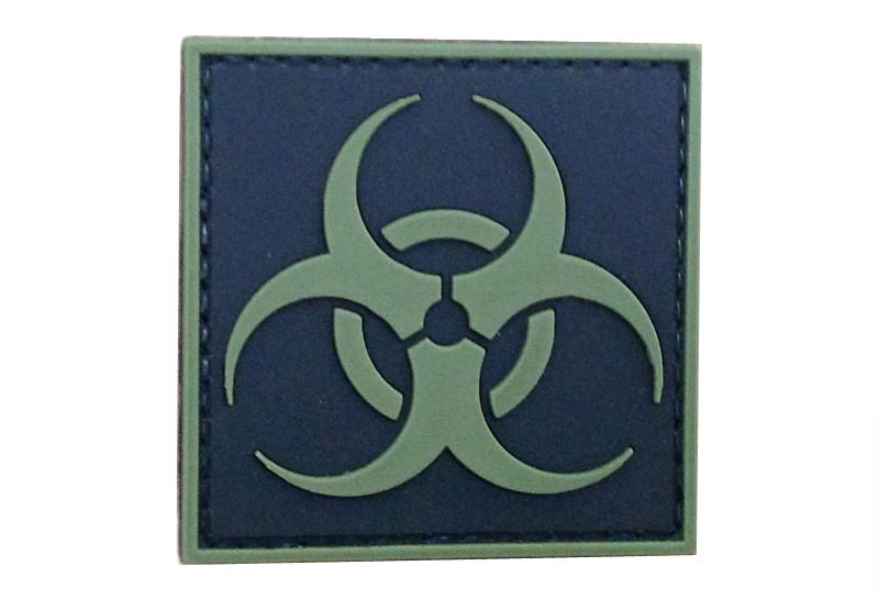 GFC Tactical nášivka Biohazard, olivová, 5 x 5cm
