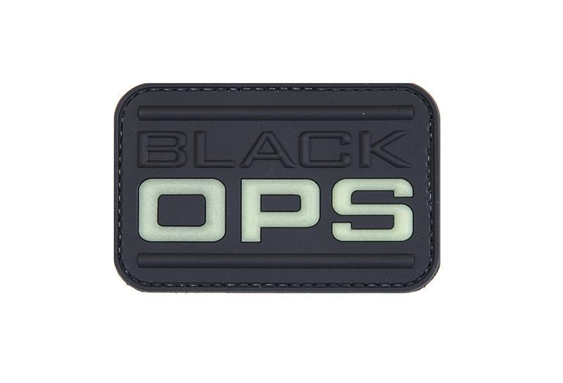 GFC Tactical nášivka Black Ops, čierna, 5 x 7,5cm