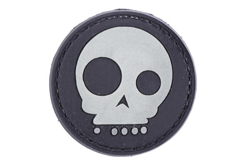 GFC Tactical nášivka Funny Skull, čierna, 4cm