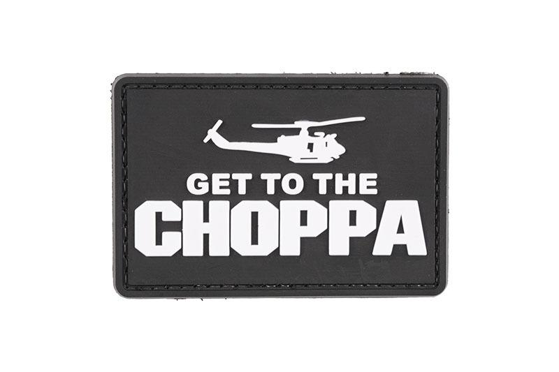 GFC Tactical nášivka Get to the Choppa, čierna, 5 x 7,5cm