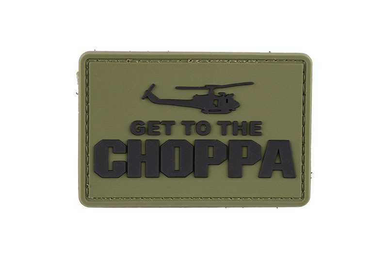GFC Tactical nášivka Get to the Choppa, olive drab, 5x 7,5cm