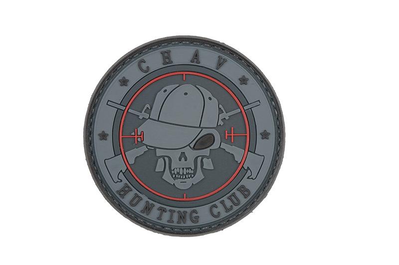 GFC Tactical nášivka Hunting Club, šedá, 6cm