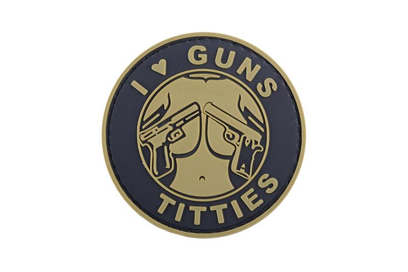 GFC Tactical nášivka I Love Guns Titties - Tan, 6cm