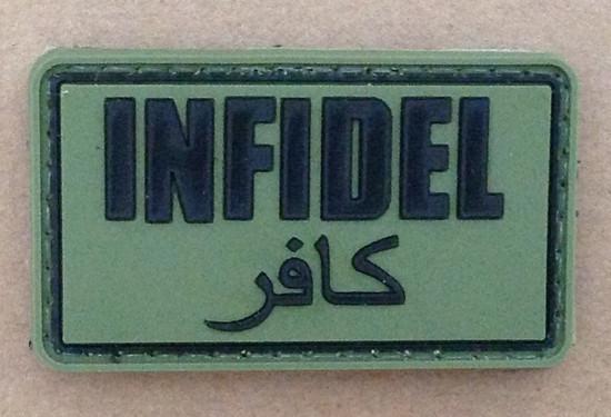 GFC Tactical nášivka Infidel, olive, 5 x 3cm