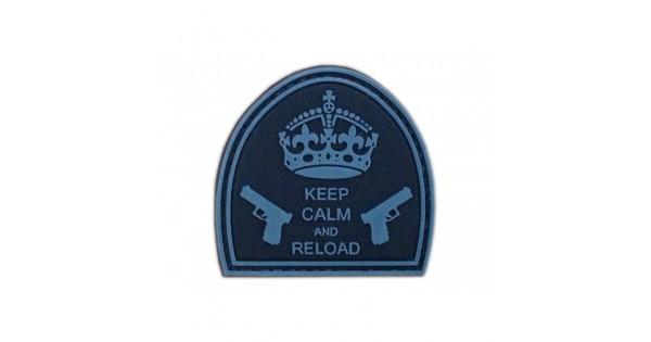 GFC Tactical nášivka Keep Calm and Reload, čierna, 5 x 5cm