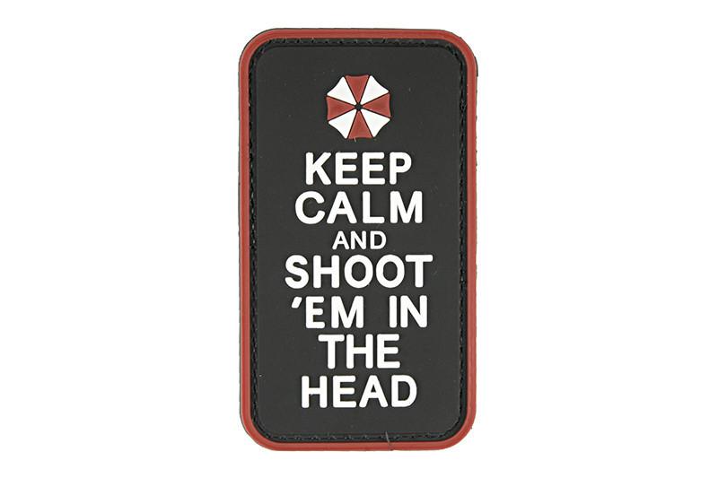 GFC Tactical nášivka Keep Calm, čierna, 5 x 9cm