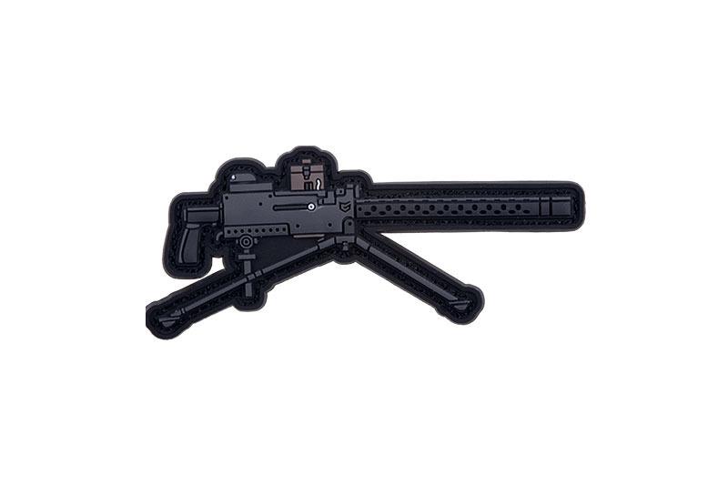 GFC Tactical nášivka M1919 Browning Machine Gun, čierna, 7,5 x 3,5cm