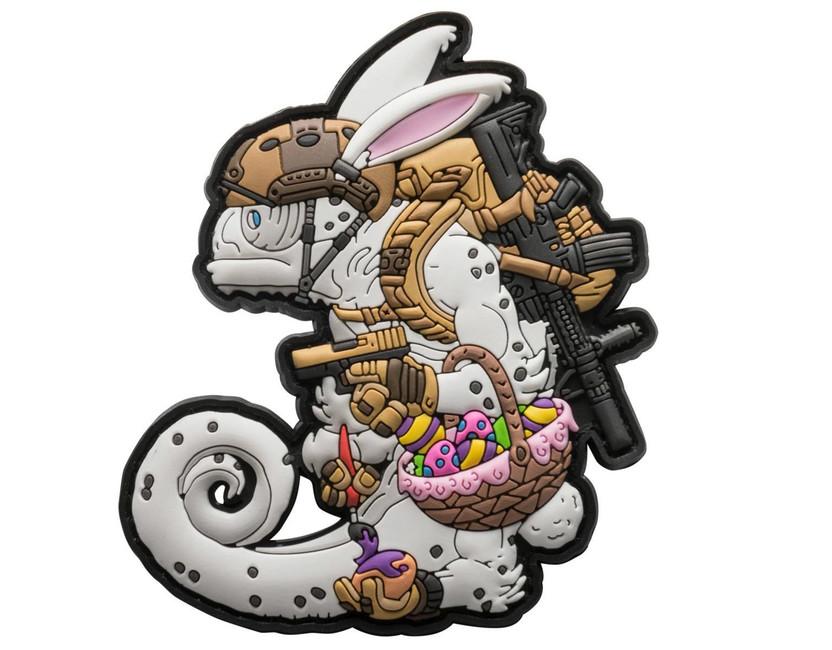 Helikon-Tex 3D PVC Chameleon Easter Operator nášivka, coyote/bílá