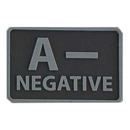 Helikon-Tex 3D PVC nášivka A- Negative, set 2ks