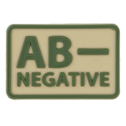 Helikon-Tex 3D PVC nášivka AB- Negative, set 2ks khaki