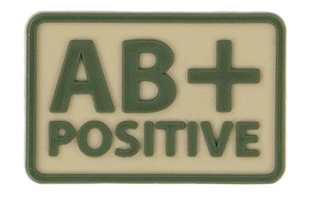 Helikon-Tex 3D PVC nášivka AB + Positive, set 2ks khaki