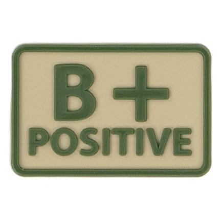 Helikon-Tex 3D PVC nášivka B + Positive, set 2ks khaki