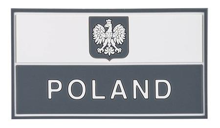 Helikon-Tex nášivka 3D Polsko 9x5cm šedá