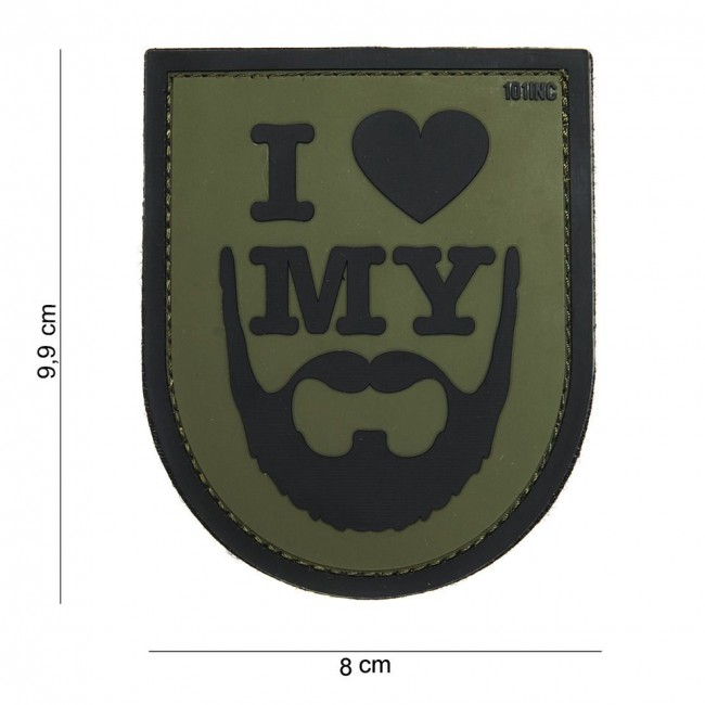 "M-Tramp PVC nášivka ""I love my beard"""