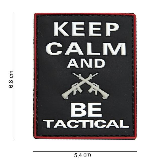 "M-Tramp PVC nášivka ""KEEP CALM AND BE TACTICAL"""
