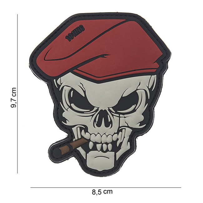 "M-Tramp PVC nášivka, ""Skull"""