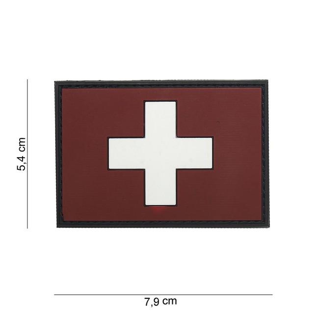 M-Tramp PVC nášivka Switzerland