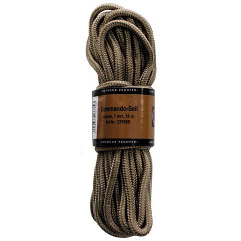 MFH polypropylénové lano 15 metrů 7mm coyote