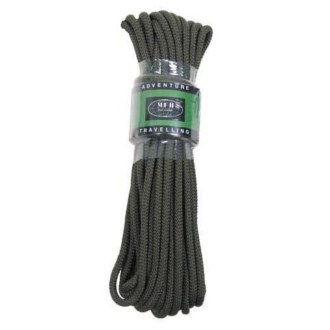 MFH polypropylénové lano 15 metrů 7mm olivové