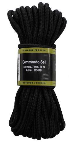 MFH polypropylénové lano 15 metrů 9mm černé